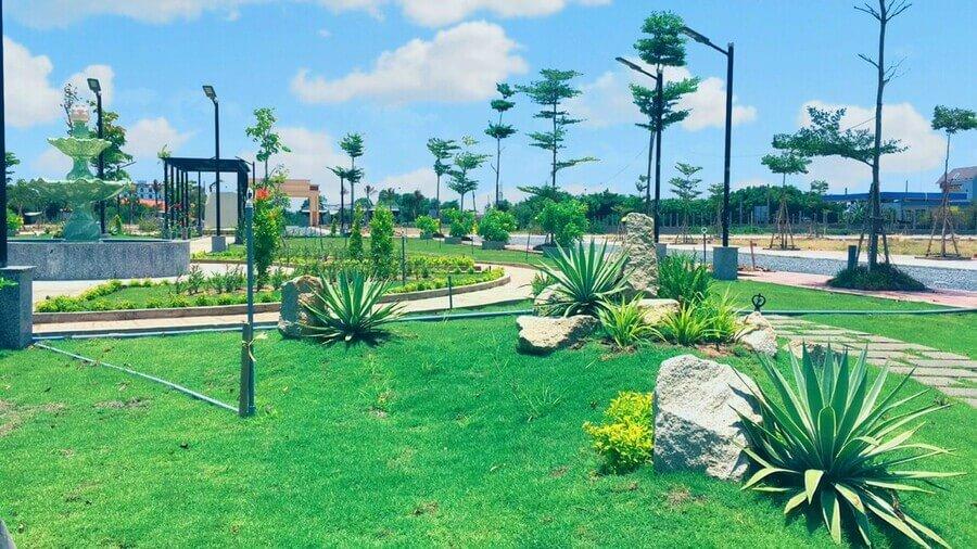 Hình ảnh hoàn thiện công viên dự án Tân Lân Residence