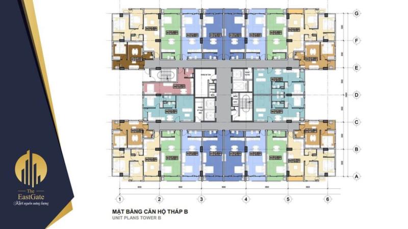 Mặt bằng tầng điển hình dự án The Eastgate Kim Oanh