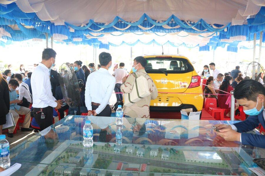 Sự kiện mở bán dự án Tân Lân Residence hôm 09/05 vừa qua đã thu hút gần 500 khách hàng tham dự