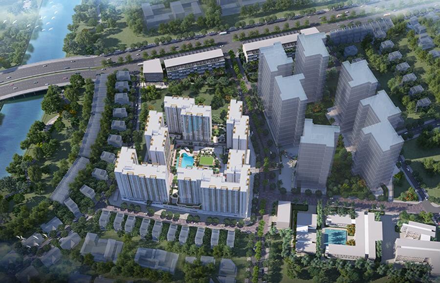 Phối cảnh tổng quan dự án căn hộ Akari City Bình Tân