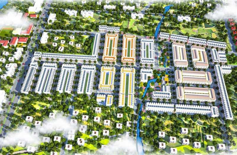 Phối cảnh tổng thể khu đô thị Tây Nam Center nằm trong quần thể 42ha của KĐT Long Cang