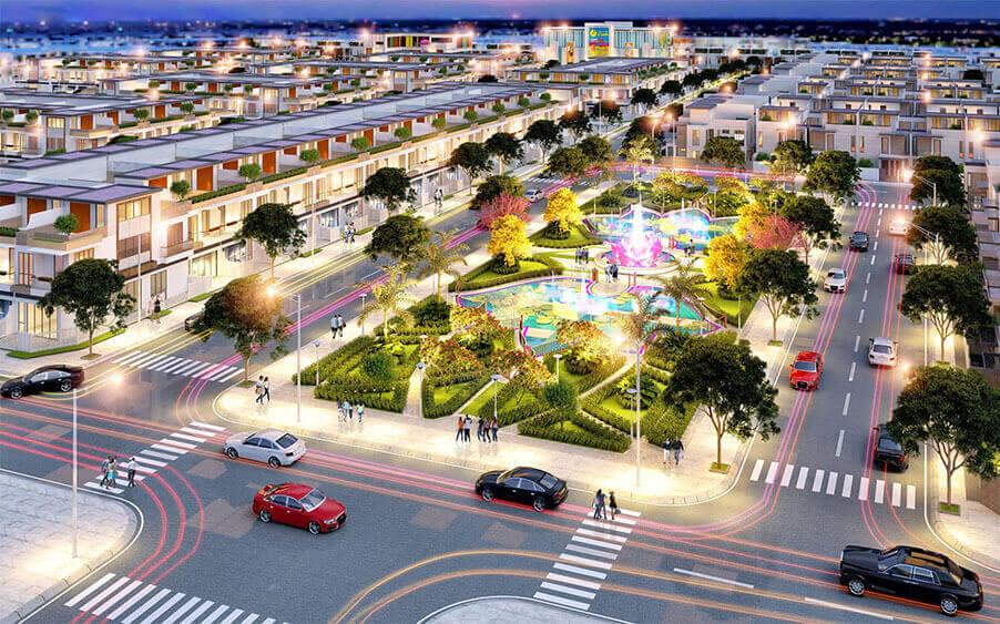 Phối cảnh 3D công viên trung tâm khu đô thị Tân Lân Residence. Ảnh: Phúc Land Group