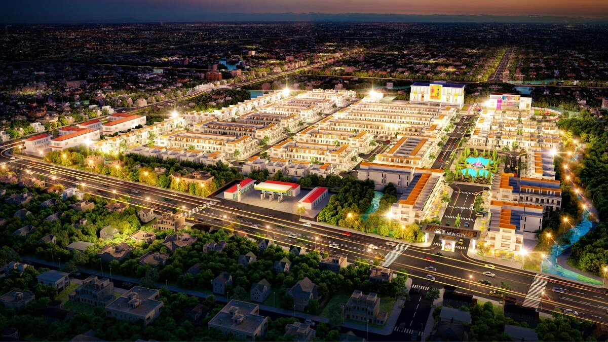 Phối cảnh tổng thể khu đô thị Tân Lân Residence mặt tiền quốc lộ 50 - Chủ đầu tư Phúc Land Group