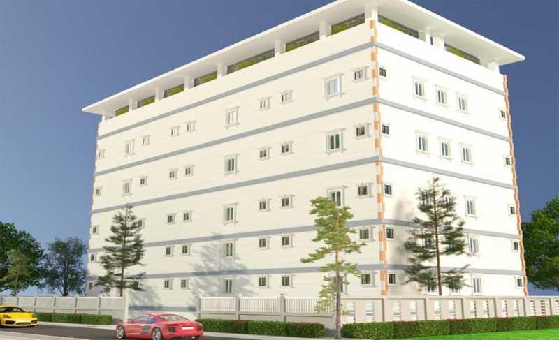 Phối cảnh tổng thể dự án Chung Cư Tân Đức sau khi hoàn thiện