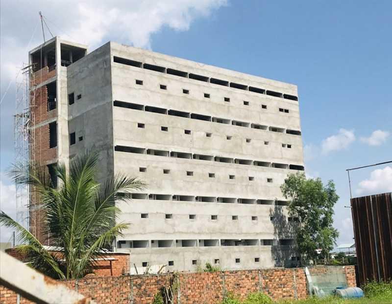 Tổng thể tiến độ thi công Chung Cư Tân Đức đã xây xong phần thô 5 tầng