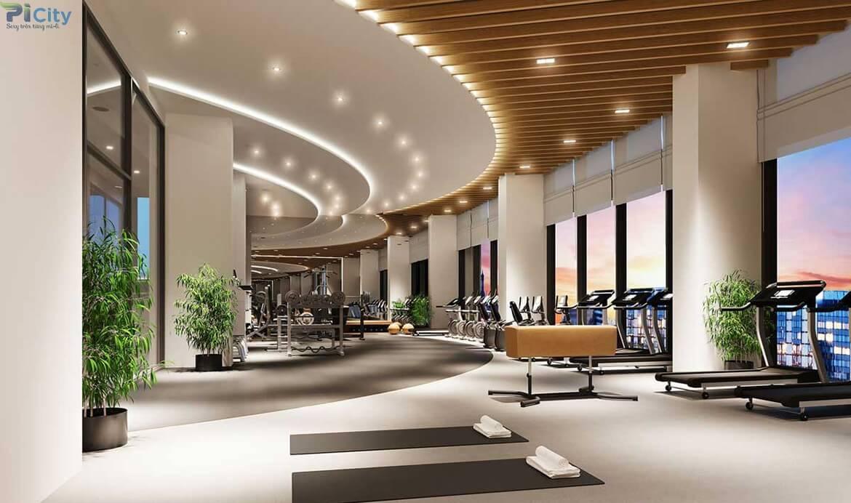 Tiện ích phòng tập gym, yoga phục vụ quý cư dân