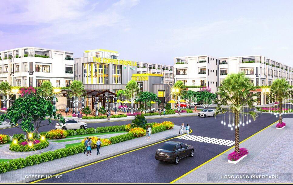 Nhà phố thương mại dự án Long Cang Riverpark