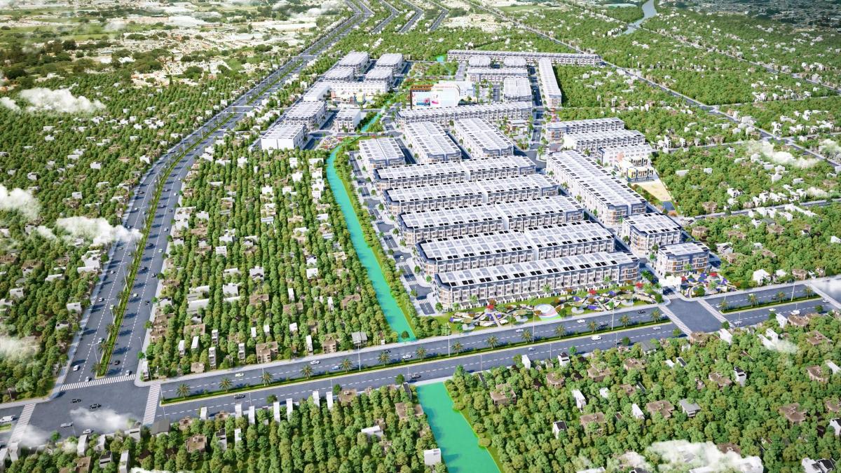 Phối cảnh tổng quan dự án KDC Long Cang - Long Cang Riverpark chủ đầu tư Phuc Land
