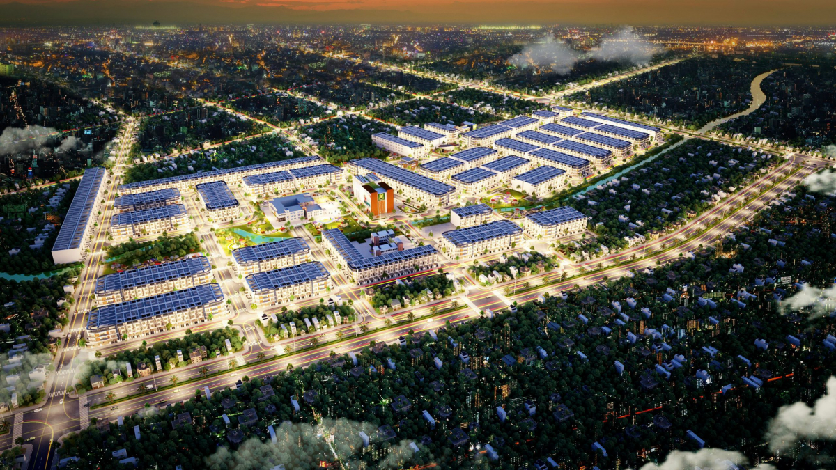 Phối cảnh tổng quan khu đô thị Long Cang Riverpark