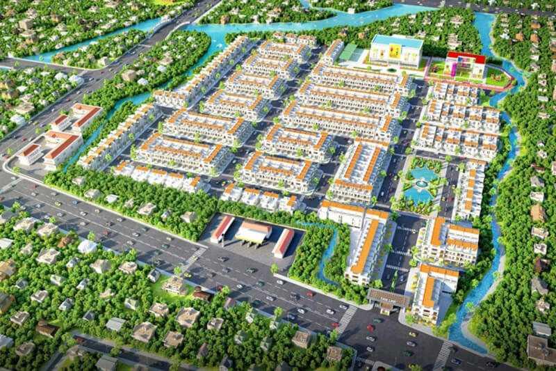 Phối cảnh tổng thể khu đô thị Tân Lân Residence mặt tiền quốc lộ 50
