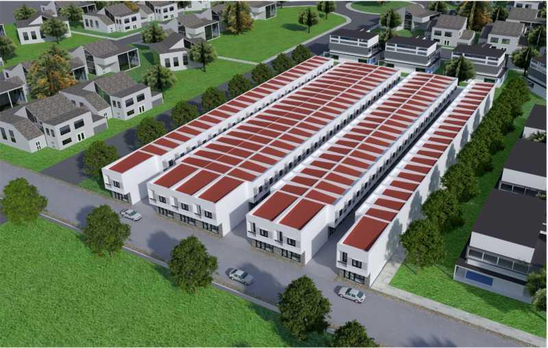 Phối cảnh tổng quan dự án Nhà Phố Hựu Thạnh mặt tiền tỉnh lộ 824