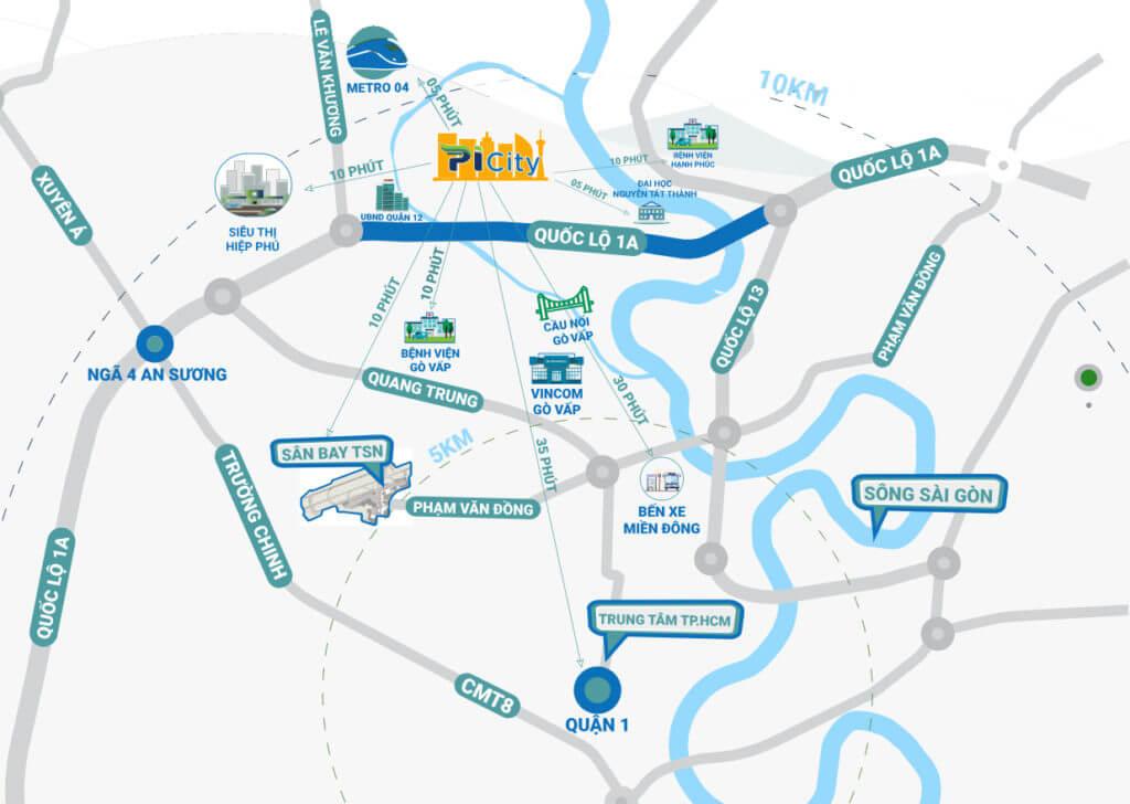 Sơ đồ vị trí dự án căn hộ Picity High Park quận 12