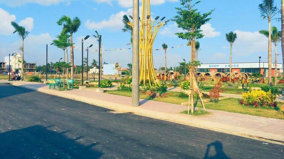 Hạ tầng hoàn thiện khu đô thị sinh thái Long Cang - Long Cang Riverpark. Nguồn: Phúc Land Group