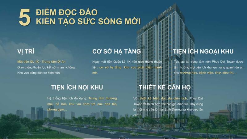 Những lý do tại sao bạn nên mua dự án căn hộ Phúc Đạt Tower Bình Dương